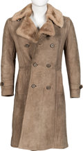 Music Memorabilia:Costumes, Keith Moon Worn Sheep Skin Double-Breasted Long Coat from the Collection of Moon's Personal Assistant....