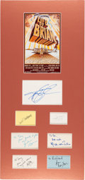 Movie/TV Memorabilia:Autographs and Signed Items, Monty Python's Life of Brian Cast Group of Seven Signatures. ...