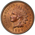 1889 1C MS65 Red and Brown PCGS. CAC. PCGS Population: (67/21 and 1/0+). NGC Census: (87/5 and 0/0+). CDN: $400 Whsle. B...