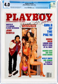 Magazines:Miscellaneous, Playboy V40#10 Signed by Jerry Seinfeld (HMH Publishing, 1993) CGC VG 4.0 White pages....