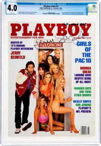 Playboy V40#10 Signed by Jerry Seinfeld (HMH Publishing, 1993) CGC VG 4.0 White pages
