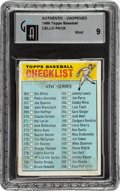 Baseball Cards:Unopened Packs/Display Boxes, 1966 Topps Baseball (4th Series) Cello Pack GAI Mint 9 - Sutton RC & Clemente Series. ...