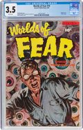 Golden Age (1938-1955):Horror, Worlds of Fear #10 (Fawcett Publications, 1953) CGC VG- 3.5 White pages....
