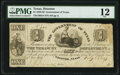 Houston, TX- Government of Texas $1 Feb. 26, 1839 Cr. H14 Medlar 54 PMG Fine 12