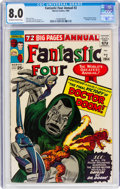 Silver Age (1956-1969):Superhero, Fantastic Four Annual #2 (Marvel, 1964) CGC VF 8.0 Off-white to white pages....