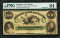 Obsoletes By State:Louisiana, New Orleans, LA- Citizens' Bank of Louisiana $100 18__ G48a Remainder PMG Choice Uncirculated 64.. ...