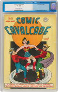 Golden Age (1938-1955):Superhero, Comic Cavalcade #14 (DC, 1946) CGC VF+ 8.5 Off-white to white pages....
