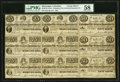 Columbus, MS- Columbus Life and General Insurance Co. 25¢ (2)-50¢ (3)-75¢ (4) Jan. 1, 1864 Kraus 51540rsb...