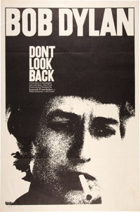 "Bob Dylan 1967 ""Don't Look Back"" Original One-Sheet Movie Poster"