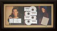 Michael Bolton Signed Personal Note With Time, Love & Tenderness RIAA Hologram Multi-Platinum Sales Award Presente...