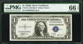 Small Size:Silver Certificates, Low Serial Number 88 Fr. 1611 $1 1935B Silver Certificate. PMG Gem Uncirculated 66 EPQ.. ...