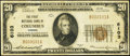 National Bank Notes:Kansas, Columbus, KS - $20 1929 Ty. 1 The First National Bank Ch. # 6103 Fine-Very Fine.. ...