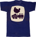 Music Memorabilia:Memorabilia, Woodstock 1969 Rare Blue T-Shirt Made for Security Staff. ...
