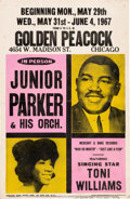 """Music Memorabilia:Posters, Little Junior Parker (""""Mystery Train"""") 1967 Chicago Concert Posters (2).... (Total: 2 Items)"""