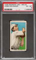 Baseball Cards:Singles (Pre-1930), 1909-11 T206 Piedmont 350-460/25 Home Run Baker PSA EX-MT 6 - One One Higher for Brand/Series/Factory. ...