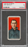 Baseball Cards:Singles (Pre-1930), 1909-11 T206 Polar Bear Jake Beckley PSA EX 5 - Pop one, One Higher for Brand. ...
