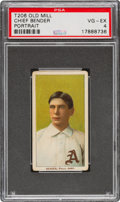 Baseball Cards:Singles (Pre-1930), 1909-11 T206 Old Mill Chief Bender (Portrait) PSA VG-EX 4 - None Higher for Brand. ...