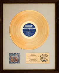 "The Rolling Stones Their Satanic Majesties Request 17 ½"" x 22"" White Mat RIAA Gold Sales Award Presente..."