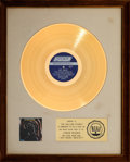 """Music Memorabilia:Awards, The Rolling Stones Big Hits 1964-1971 17 ¼"""" x 21 ½"""" White Matte RIAA Gold Sales Award Presented to Band (London, 1..."""