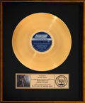 """Music Memorabilia:Awards, The Rolling Stones Big Hits (High Tide and Green Grass) 17"""" x 21"""" RIAA Gold Sales Award Presented to Brian Jones (..."""