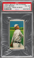Baseball Cards:Singles (Pre-1930), 1909-11 T206 American Beauty 350-With Frame Chief Bender (Trees In Background) PSA VG-EX 4 - Total Pop is Five. ...