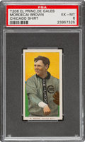 Baseball Cards:Singles (Pre-1930), 1909-11 T206 El Principe De Gales Mordecai Brown (Chicago On Shirt) PSA EX-MT 6 - Pop Two, None Higher for Brand. ...