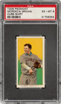 Baseball Cards:Singles (Pre-1930), 1909-11 T206 Piedmont 150 Mordecai Brown (Cubs On Shirt) PSA EX-MT 6. ...