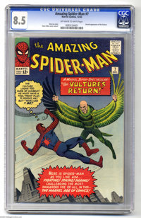 The Amazing Spider-Man #7 (Marvel, 1963) CGC VF+ 8.5 Off-white to white pages. This eye-popping beauty seems to be just...