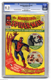 The Amazing Spider-Man #8 (Marvel, 1964) CGC NM- 9.2 Off-white to white pages. Steve Ditko cover and art. Spider-Man and...