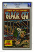 Golden Age (1938-1955):Horror, Black Cat Mystery #52 File Copy (Harvey, 1954) CGC VF+ 8.5 Cream tooff-white pages. Joe Certa, Bob Powell, and Rudy Palais ...