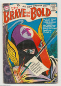 Silver Age (1956-1969):Adventure, The Brave and the Bold #15 (DC, 1957) Condition: VG-. Irv Novick cover. Novick, Russ Heath, and Joe Kubert art. Overstreet 2...