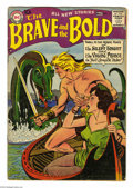 Silver Age (1956-1969):Adventure, The Brave and the Bold #17 (DC, 1958) Condition: GD/VG. Irv Novick cover. Novick and Joe Kubert art. Overstreet 2004 GD 2.0 ...