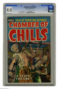 Golden Age (1938-1955):Horror, Chamber of Chills #22 File Copy (Harvey, 1954) CGC VF 8.0 Cream tooff-white pages. Lee Elias cover. Manny Stallman, Joe Cer...