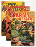 Silver Age (1956-1969):Miscellaneous, Charlton Silver Age War Comics Group (Charlton, 1960-65) Condition:Average GD/VG. This group includes Army Attack #2 (S... (Total: 50Comic Books Item)