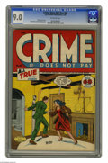 Golden Age (1938-1955):Crime, Crime Does Not Pay #45 (Lev Gleason, 1946) CGC VF/NM 9.0 Off-whitepages. Charles Biro cover. Rudy Palais art. Overstreet 20...