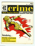 "Magazines:Crime, Crime Illustrated #1 (EC, 1955) Condition: FN. This ""picto-fiction""magazine was an attempt by EC to regain their footing in..."