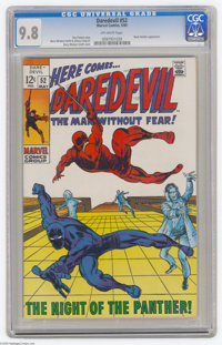Daredevil #52 (Marvel, 1969) CGC NM/MT 9.8 Off-white pages. Barry Smith cover. Smith and Johnny Craig art. Black Panther...