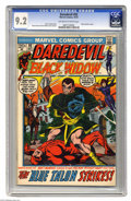 Bronze Age (1970-1979):Superhero, Daredevil #92 (Marvel, 1972) CGC NM- 9.2 Off-white to white pages. The Black Panther and the Black Widow appear. Gene Colan ...