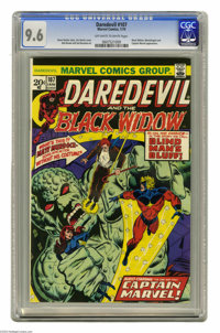 Daredevil #107 (Marvel, 1974) CGC NM+ 9.6 Off-white to white pages. Jim Starlin cover. Bob Brown and Sal Buscema art. Ca...