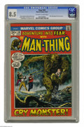 Bronze Age (1970-1979):Horror, Fear #10 (Marvel, 1972) CGC VF+ 8.5 Off-white to white pages.Beginning of Man-Thing's first solo series. Gray Morrow cover....