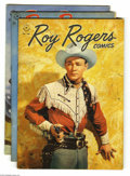 Golden Age (1938-1955):Adventure, Four Color Roy Rogers Group (Dell, 1947) Condition: FN+. Issues #160, 166, and 177 (has a tiny spot of glue at the bottom of... (Total: 3 Comic Books Item)