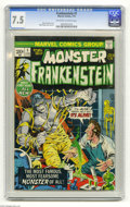 Bronze Age (1970-1979):Horror, Frankenstein #1 (Marvel, 1973) CGC VF- 7.5 Off-white to whitepages. Mike Ploog cover and art. Overstreet 2004 VF 8.0 value ...