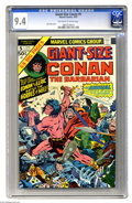 Modern Age (1980-Present):Miscellaneous, Giant-Size Conan #5 (Marvel, 1975) CGC NM 9.4 Off-white to white pages . Jack Kirby cover art. Just one other copy of issue ...