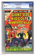 Bronze Age (1970-1979):Western, Giant-Size Kid Colt #1 (Marvel, 1975) CGC VF+ 8.5 Off-white to white pages. Larry Lieber and Vince Colletta art. Overstreet ...