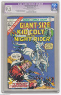Bronze Age (1970-1979):Western, Giant-Size Kid Colt #3 (Marvel, 1975) CGC Apparent NM- 9.2 Slight (P) Off-white to white pages. Gil Kane cover. Dick Ayers a...