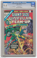 Bronze Age (1970-1979):Superhero, Giant-Size Super-Villain Team-Up #2 (Marvel, 1975) CGC NM 9.4 Off-white to white pages. Doctor Doom and the Sub-Mariner appe...