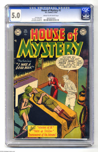 House of Mystery #2 (DC, 1952) CGC VG/FN 5.0 Cream to off-white pages. Curt Swan cover. Swan, Jim Mooney, and Sheldon Mo...
