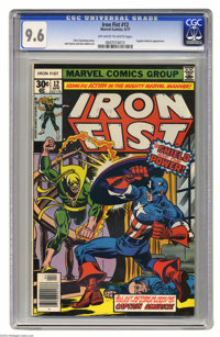 Iron Fist #12 (Marvel, 1977) CGC NM+ 9.6 Off-white to white pages. Captain America appears. John Byrne and Dan Adkins ar...
