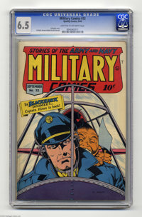 Military Comics #32 (Quality, 1944) CGC FN+ 6.5 Light tan to off-white pages. Al Bryant cover. Jack Cole art. Only one c...