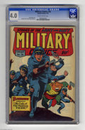 Golden Age (1938-1955):War, Military Comics #36 (Quality, 1945) CGC VG 4.0 Slightly brittlepages. Featuring Blackhawk. Death Patrol backup story. Overs...